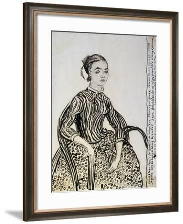 Portrait of a Young Lady (La Mousm), 1888-Vincent van Gogh-Framed Giclee Print