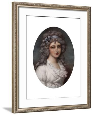Portrait of a Young Lady-L Busiere-Framed Giclee Print