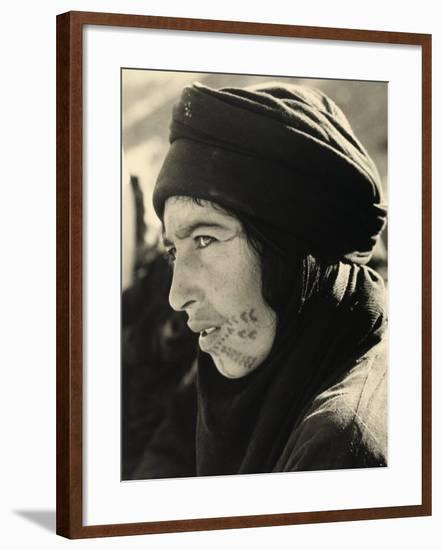 Portrait of a Young Lebanese Woman, Whose Face is Tatooed--Framed Photographic Print