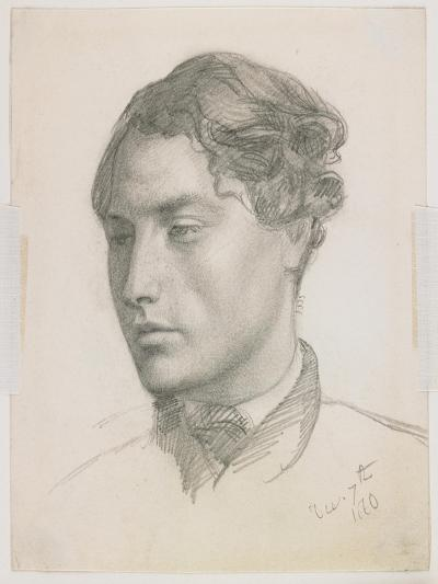 Portrait of a Young Man, 1860-Valentine Cameron Prinsep-Giclee Print