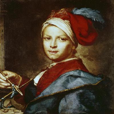 Portrait of a Young Man as a Painter-Giuseppe Ghislandi-Giclee Print