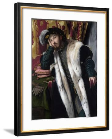 Portrait of a Young Man, C.1542-Alessandro Bonvicino Moretto-Framed Giclee Print