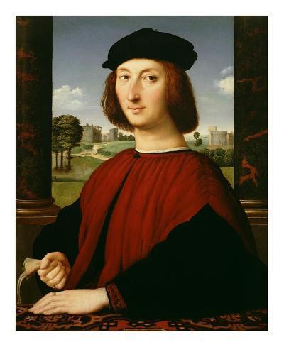 Portrait of a Young Man in Red-Circle of Raphael (Raffaello Sanzio)-Art Print