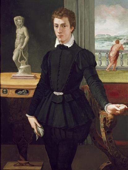 Portrait of a Young Man, Post 1560-Alessandro Allori-Premium Giclee Print