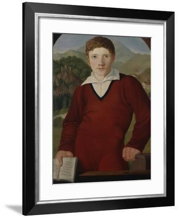 Portrait of a Young Man with a Copy of the Nibelungenlied, 1800-Joseph Wintergerst-Framed Giclee Print