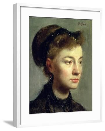 Portrait of a Young Woman, 1867-Edgar Degas-Framed Giclee Print