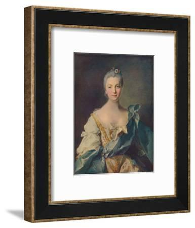 'Portrait of a Young Woman'', 18th century-Jean-Marc Nattier-Framed Giclee Print