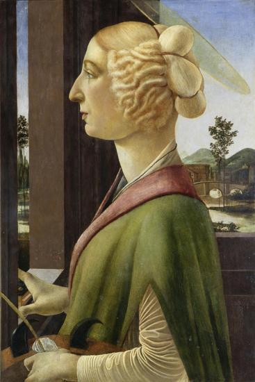 Portrait of a Young Woman with Attributes of St. Catherine, 1475-78-Sandro Botticelli-Giclee Print