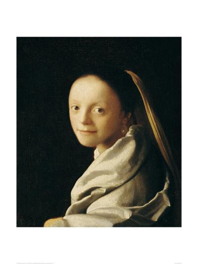 Portrait of a Young Woman-Johannes Vermeer-Giclee Print