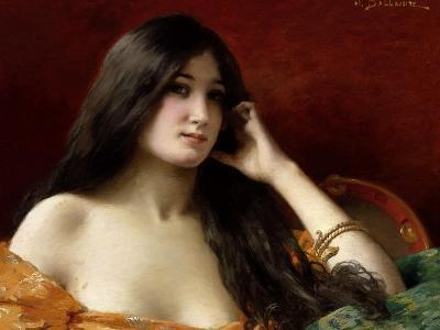 Portrait of a Young Woman-Jules Frederic Ballavoine-Giclee Print