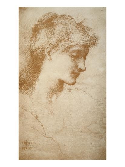 Portrait of a Young Woman-Edward Burne-Jones-Giclee Print