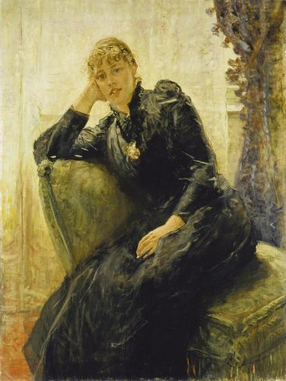 Portrait of a Young Woman-Fritz von Uhde-Giclee Print