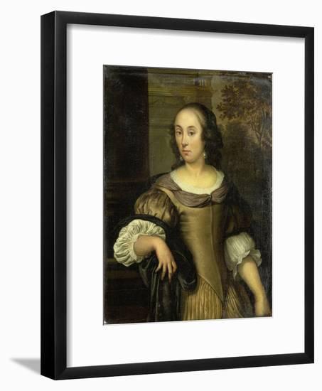 Portrait of a Young Woman-Eglon van der Neer-Framed Art Print