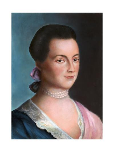 Portrait of Abigail Adams after a Painting-Benjamin Blythe-Giclee Print