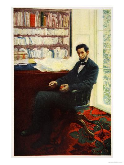 Portrait of Abraham Lincoln-Howard Pyle-Giclee Print