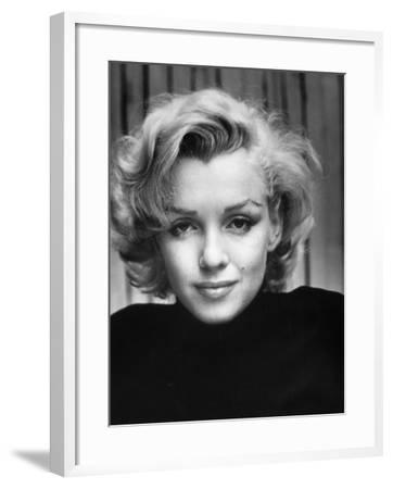 Portrait of Actress Marilyn Monroe at Home-Alfred Eisenstaedt-Framed Premium Photographic Print