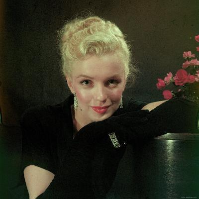 Portrait of Actress Marilyn Monroe-Ed Clark-Premium Photographic Print