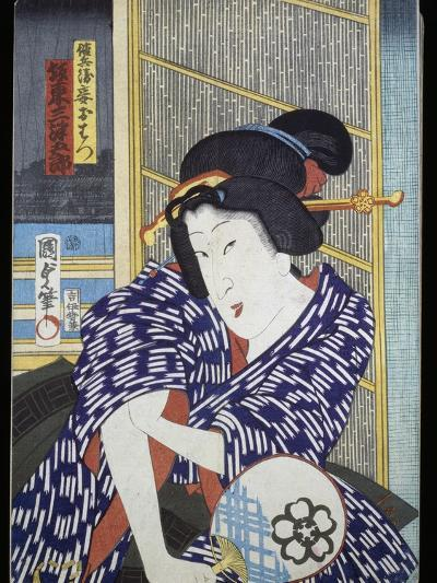Portrait of Actress with Fan--Giclee Print