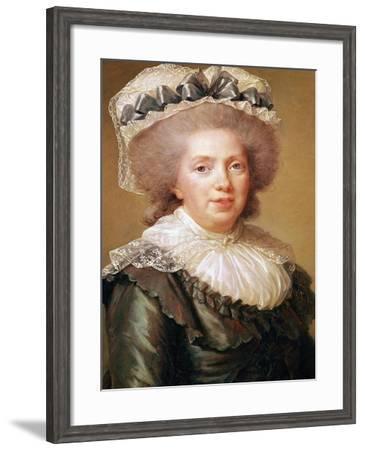 Portrait of Adelaide de France 1791-Elisabeth Louise Vigee-LeBrun-Framed Giclee Print