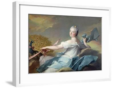 Portrait of Adelaide de France, as the Element Air-Jean-Marc Nattier-Framed Giclee Print