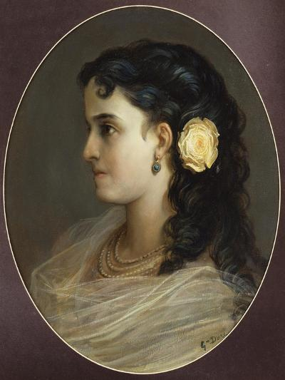 Portrait of Adelina Patti, Head and Shoulders (Female Portrait)-Gustave Dor?-Giclee Print