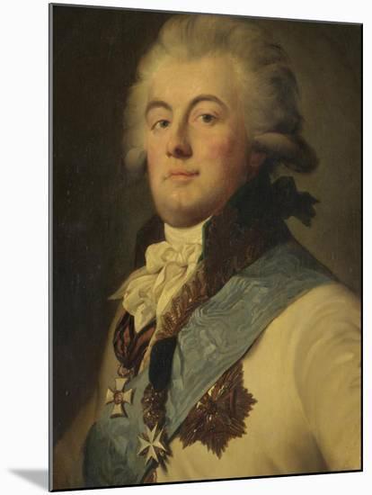 Portrait of Admiral July Litta (Giulio Renato De Litta Visconti Ares)-Johann-Baptist Lampi the Younger-Mounted Giclee Print