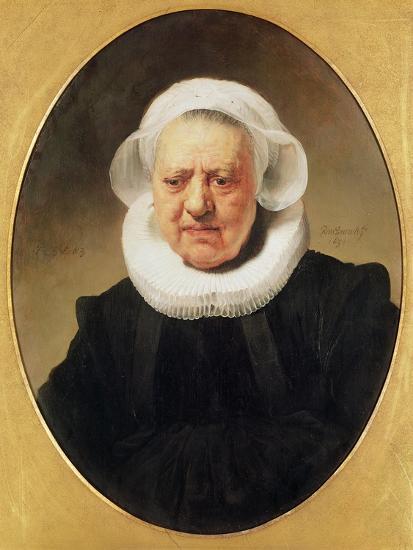 Portrait of Aechje Claesdar, 1634-Rembrandt van Rijn-Giclee Print