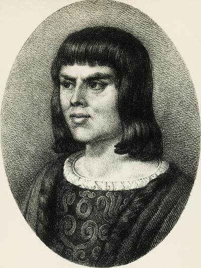 Portrait of Alain Chartier--Giclee Print