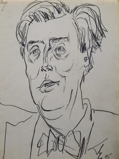 Portrait of Alban Berg--Giclee Print