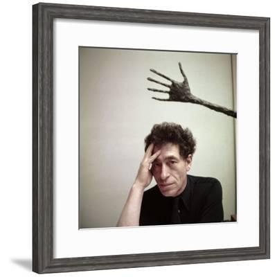 Portrait of Alberto Giacometti in His Studio-Gordon Parks-Framed Premium Photographic Print