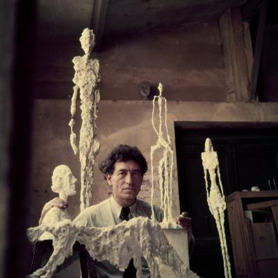 Portrait of Alberto Giacometti in His Studio-Gordon Parks-Premium Photographic Print