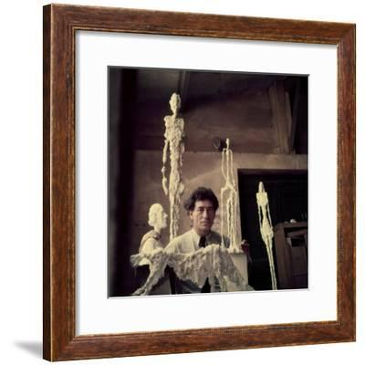 Portrait of Alberto Giacometti in His Studio-Gordon Parks-Framed Premium Photographic Print