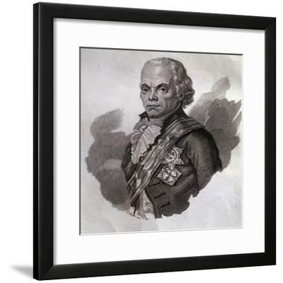 Portrait of Aleksandr Suvarov--Framed Giclee Print