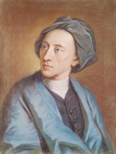 Portrait of Alexander Pope (1688-1744), C.1739-84-William Hoare-Giclee Print