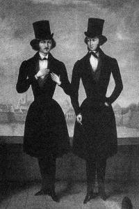 Portrait of Alexander Pushkin and Nikolai Gogol, First Quarter of 19th C