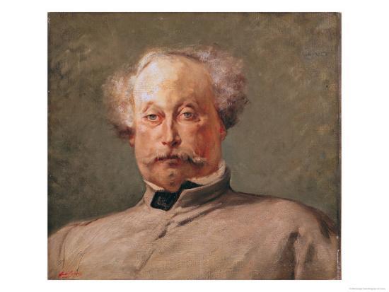 Portrait of Alexandre Dumas Fils (1824-95)-Georges Clairin-Giclee Print