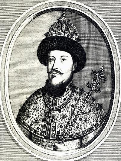 Portrait of Alexei Mikhailovich Romanov--Giclee Print