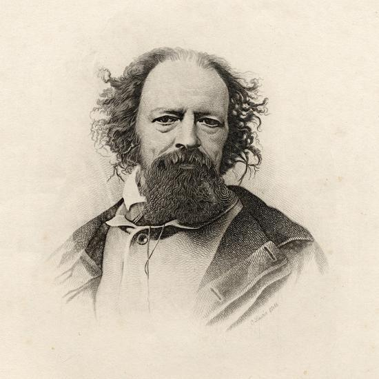 Portrait of Alfred, Lord Tennyson (1809-92)-C. Laurie-Giclee Print