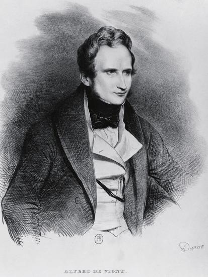 Portrait of Alfred Victor De Vigny--Giclee Print