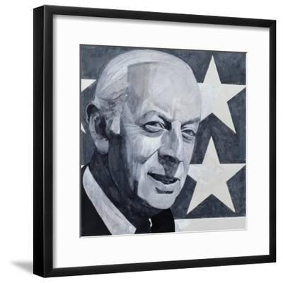 Portrait of Alistair Cooke, illustration for 'The Listener', 1970s-Barry Fantoni-Framed Giclee Print