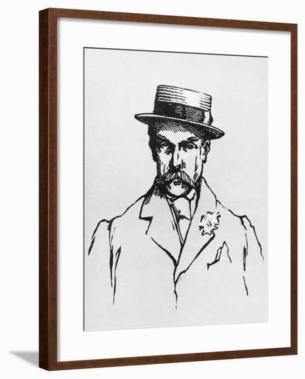 Portrait of Alphonse Allais--Framed Giclee Print