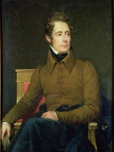 Portrait of Alphonse De Lamartine (1790-1869), 1831-Francois Gerard-Giclee Print