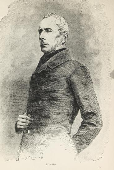 Portrait of Alphonse De Lamartine--Giclee Print