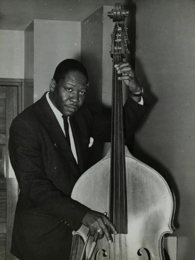 Portrait of American Double Bass Player Curtis Counce, C1950S-Denis Williams-Photographic Print
