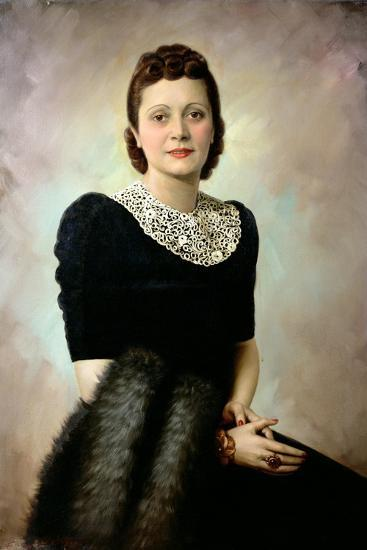 Portrait of an Elegant Lady, Late 1930S--Giclee Print