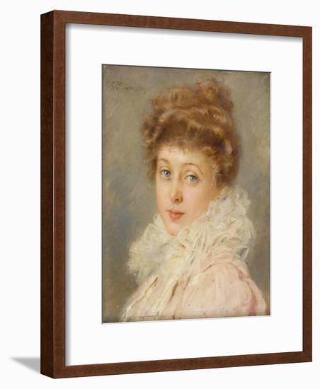 Portrait of an Elegant Woman-Konstantin Egorovich Makovsky-Framed Giclee Print
