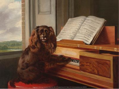 Portrait of an Extraordinary Musical Dog, 1805-Philip Reinagle-Art Print