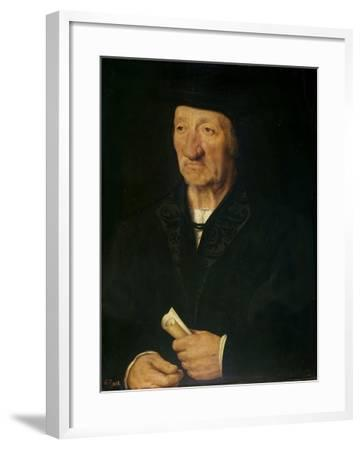 Portrait of an Old Man, 1525-7-Joos van Cleve-Framed Giclee Print