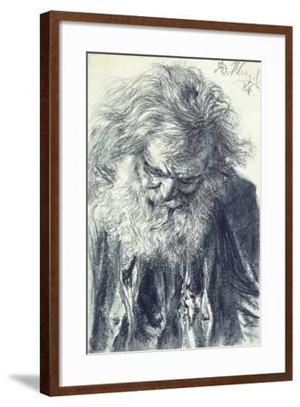 Portrait of an Old Man, 1884-Adolph Friedrich Erdmann von Menzel-Framed Giclee Print