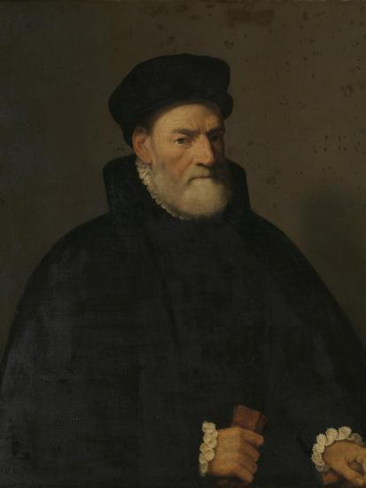 Portrait of an Old Man, Probably Vercellino Olivazzi, Senator from Bergamo-Giambattista Moroni-Art Print